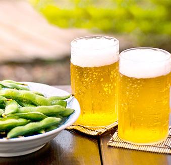 昼間に呑むビール